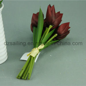 Decorative Artificial Tulip Bouquet Flower with Hand Drawing Color (SF11785) pictures & photos