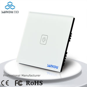 1gang 1way UK Electrical Touch Switches Smart Intelligent Touch Wall Switch for Home Lamp System with Glass Switch Panel