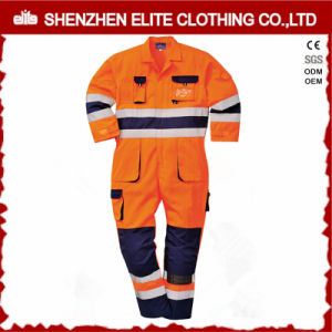 China Wholesale Custom Cotton Hi Vis Safety Workwear (ELTCVJ-101) pictures & photos