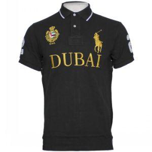 China custom made embroidered logo high quality polo shirt for Polo shirts with embroidered custom logo