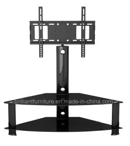 Glass and Metal Home Furniture TV Stand with Bracket (BR-TV013)