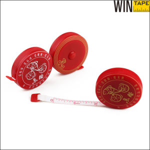Mini Metric Logo Design Elastic Waterproof Retractable Fiberglass Measure Tape pictures & photos