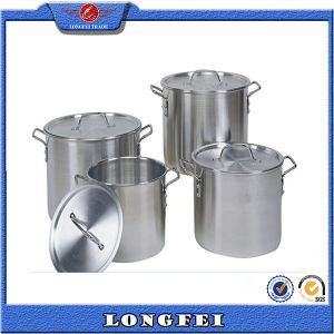 China Supplier Stainless Steel Handle Aluminum Stock Pot pictures & photos