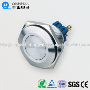30mm 1no 1nc/2no 2nc Resetable Self-Locking High Flat IP67 Ik10 Push Button Switch pictures & photos