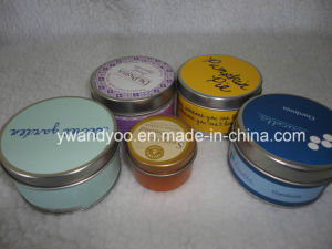 Different Sizes of Scented Soy Wax Tin Candle