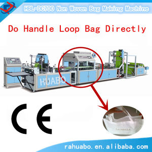 Nonwoven Bag Making Machine with Handle Attached pictures & photos