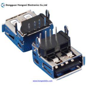 Af DIP Female 90 Degree Fork 4pin USB 2.0 Connector