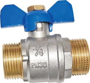 Brass Forged Full Bore Ball Valve with Butterfly Handle (a. 7014) pictures & photos