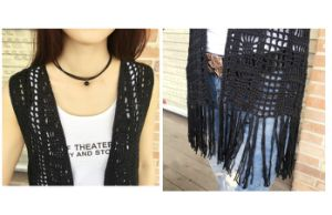 New Design Ladies Sexy Hand Crochet Fringe Vest Beachwear Dress pictures & photos