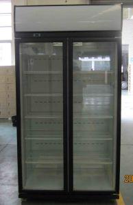 Double Door Display Cooler 600L pictures & photos