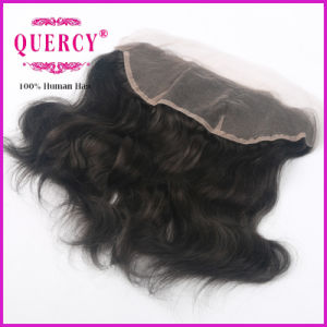 Wholesale Price Human Virgin Hair 13*4 Peruvian Virgin Hair Natural Wave Silk Base Closure Lace Frontal pictures & photos
