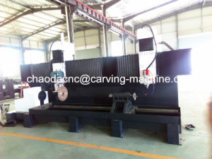 CNC Lathe Machine for Column Cylinder Stone Pillars pictures & photos