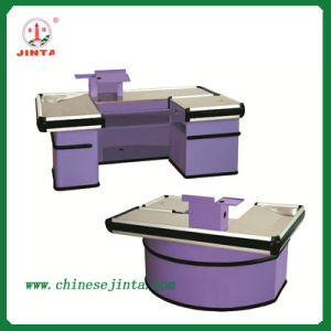 Cashier Desk, Luxury Checkout Counter with Conveyor Belt (JT-H05) pictures & photos