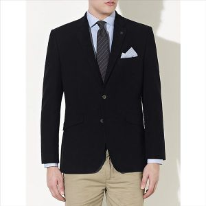 OEM Fashion Latest Design Black Suit Blazer for Men pictures & photos