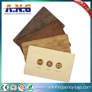Eco-Friendly Custom Antique Circle Cutting Wooden Business NFC Card / Blank Card pictures & photos