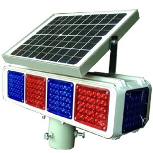 Solar Traffic Warning Flash Light with Blue and Red LED pictures & photos