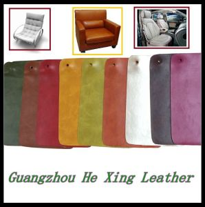 Water Proof Synthetic Leather PVC PU Leather for Sofa pictures & photos