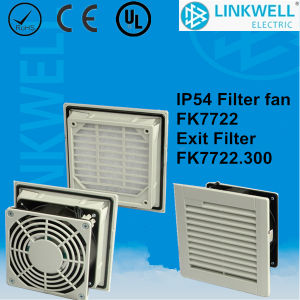 China Fast Installation Easy Connection Fan Ventilator with Micro Fiber Filter Pad for Power Distribution Control Panel Board (FK7722) pictures & photos