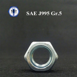 SAE J995 Grade5 Hex Nut Cr+3 Zinc Plated Structure Nut pictures & photos