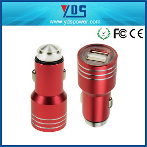 Dual USB Metal safety 5V, 3.1A Two Port USB Car Charger Universal 2.1A safety Hammer Stainless pictures & photos