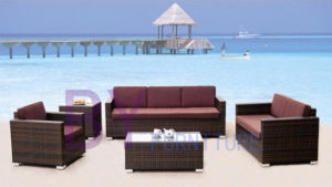 by-403 Luxury Sectional Wicker Outdoor Rattan Sofa Set pictures & photos