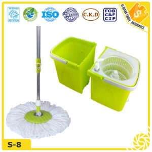 High Quality Plastic Double Bucket Clean Magic Mop pictures & photos
