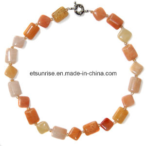Semi Precious Stone Crystal Jewelry Fashion Necklace (ESB01383) pictures & photos
