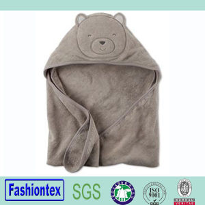 100% Cotton Toddler Bath Cloth Bear Hooded Towel pictures & photos