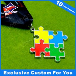 Custom Metal Medal Sport Medal Cross Shape Medallion with Ribbon pictures & photos
