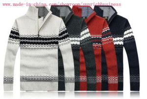 Men′s Knitted Long Sleeve Sweater (0159) pictures & photos