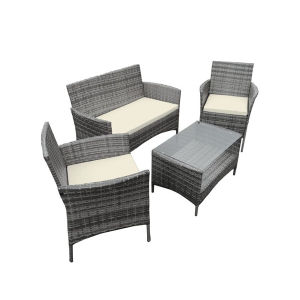 Grey 4PCS Rattan Garden Outdoor Table Set pictures & photos
