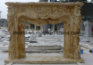 High Quality Hand Carved Beige/Yellow/White Marble Stone Fireplace pictures & photos