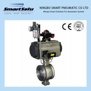 V-Segment Pneumatic Ball Valve, V-Port Pneumatic Ball Valve pictures & photos