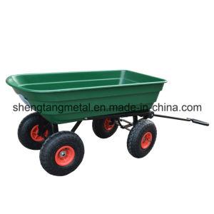4 Wheel Garden Cart Truck 75L Sack Trolley Wheelbarrow Tipper Tipping Trailer pictures & photos