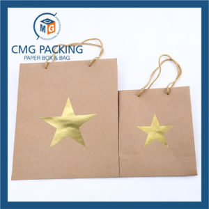 Hot Foil Stamping Kraft Paper Bag (CMG-MAY-055) pictures & photos