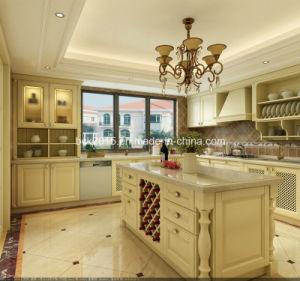 Modern Wood Antique White Kitchen Cabinet pictures & photos