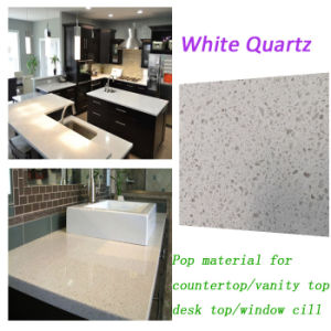 Popular White Quartz Kitchen Benches for Modern Designs pictures & photos