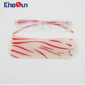 PC Light Reading Glasses with Colorful Temple and Bag pictures & photos