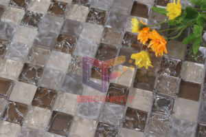 Glitter Crystal Cracked Glass Mosaic Tile (CC142) pictures & photos