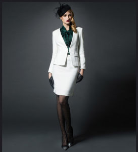 Made to Measure Fashion Stylish Office Lady Formal Suit Slim Fit Pencil Pants Pencil Skirt Suit L51642 pictures & photos