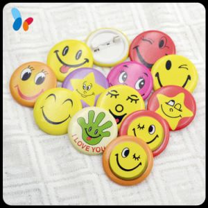 Metal Badges China Manufacturers Pin Round Smiling Face Badges pictures & photos