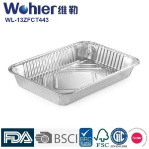 Hot Dog Packing Aluminum Food Storage Containers Silver Thickness 45    150mic