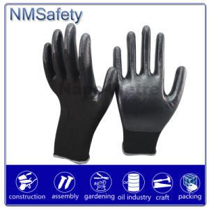 Nmsafety 13G Polyster Nitrile Coated Hand Safety Working Gloves pictures & photos
