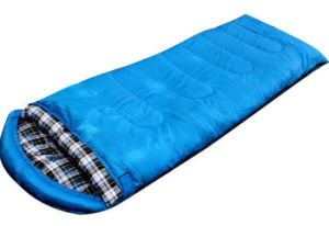 Outdoor Winter Thick Flannel Sleeping Bag Waterproof Fabric with Pillow pictures & photos