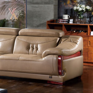 Leather Sofa with Chaise (398) pictures & photos