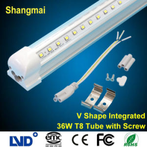 Fire Retardant V Shaped Integrated 1.2m/4ft 36W T8 LED Tube Light