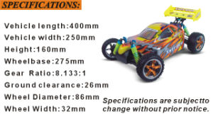 Hsp 1/10 Xstr PRO Electric Brushless Powered off Road Buggy Hobby Model pictures & photos