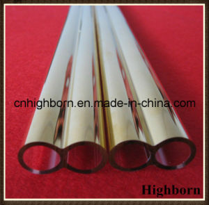 Heat Resistance Gold Coatd Twin Quartz Glass Tube Pipe pictures & photos