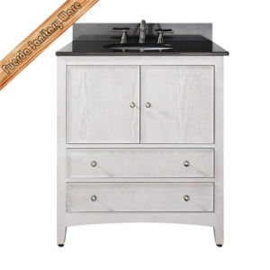 High Quality White Solid Wood Bathroom Vanity pictures & photos