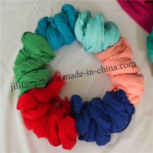 Woven Polyester Lady Plain Scarf Voile Fabric pictures & photos